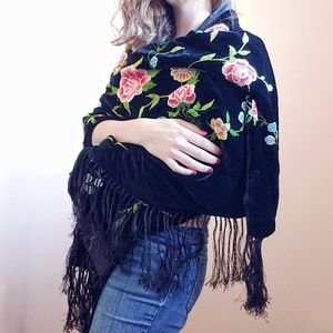 Accessories - ☆ silk and velvet shawl ☆